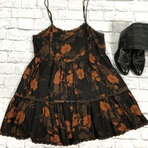 Urban Outfitters Brown/Orange Dress